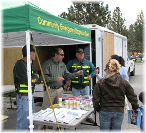 CERT Table at Kids-a-Plosa
